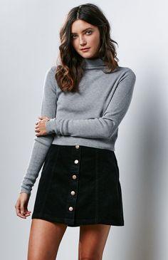 Don't Think So Corduroy Mini Skirt