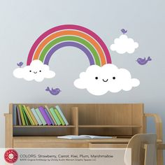 Happy Rainbow Wall Decal Baby Nursery Children by graphicspaces, $50.00