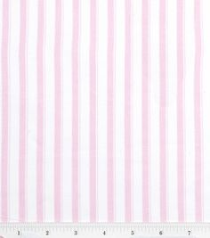 Nursery Baby Basic- Stripe Pink & nursery fabric at Joann.com
