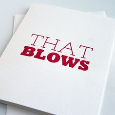 Letterpress Greeting Card That Blows by SteelPetalPress on Etsy
