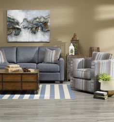 Décor-rest Sofa & Swivel Chair Available at Reliable Home Furniture!