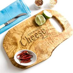 Shop for The Rustic Dish Personalised Natural Serving Board at ShopStyle. Tapas, Chopped Cheese, Serving Board, Woodworking Tips, Bamboo Cutting Board, Thoughtful Gifts, Artisan, Carving, Rustic