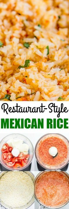 Mexican Rice Recreate Restaurant-Style Mexican Rice at home in your oven. This fool-proof method starts with fresh vegetables and ends with fluffy grains every time.Recreate Restaurant-Style Mexican Rice at home in your oven. This fool-proof method starts Mexican Dishes, Mexican Food Recipes, Mexican Easy, Vegetarian Mexican, Mexican Rice Crock Pot Recipe, Mexican Night, Mexican Breakfast Recipes, Mexican Cooking, Shrimp Recipes