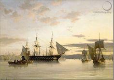 Художник маринист Anton Melbye (1818-1875)-
