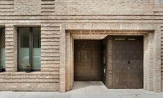 silchester estate gate - Google Search Brick Detail, Roof Detail, Brick Architecture, Architecture Details, Brown Roofs, Types Of Bricks, Modern Townhouse, Brick Construction, Brick Facade