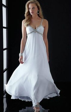 2014 LONG WHITE TAILOR MADE EVENING PROM DRESS (LFNAI0025) cheap in marieprom.co.uk