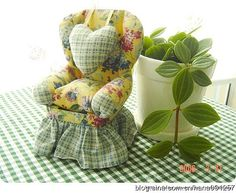 pincushion chair tutorial--It's for a pincushion, but of course I'm thinking of miniatures. :)