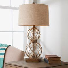 Nautical Lamps, Nautical Table, Nautical Bedroom, Cheap Table Lamps, Unique Table Lamps, Rope Lamp, Map Wall Decor, Room Decor, Beach Room