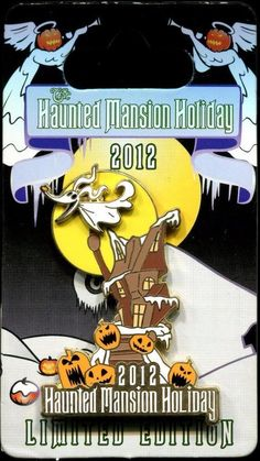 2012 Haunted Mansion Holidays Zero Gingerbread House LE Disney Pin 93355