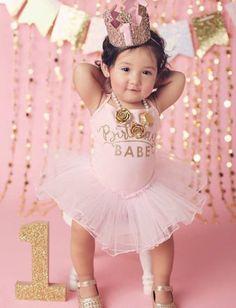 Vestido rosa de cumpleaños nena por LolaandDarla en Etsy