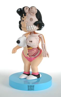 "Ron English ""Lucy Exposed"" dissected vinyl figure"