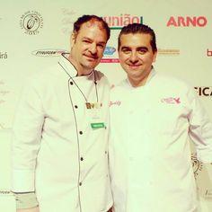 O dia do encontro de Claudio Mechetto proprietario da Confeitaria com o idolo Buddy Valastro . Em Cake Design Expo 2015 - 12/08/15