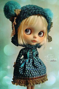 Blythe casque minuit forêt par Odd princesse Atelier, Ooak, costume victorien, robe spéciale