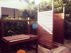Pallets - Outdoor shower - Bench