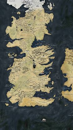 Map Game of Thrones iPhone 5 Wallpaper