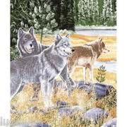 """#Wolf Blanket - www.MyAnimalBlankets.com - The gray wolf or grey wolf, is the largest member of its family. It is similar in general appearance and proportions to a German shepherd, or sled dog. An elegant tapestry design reminiscent of the Pacific Northwest and the Great White North alike, this amazingly detailed 54"""" x 70"""" tapestry throw is made from only the finest 100% cotton threads, so its built to last for years and years to come."""
