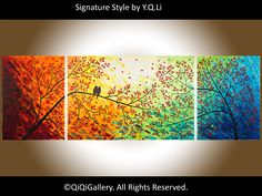 72 Original Large Abstract Impasto Landscape by QiQiGallery, $675.00