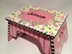 Personalized Step Stool Custom Childs Stool by paintingbymichele, $79.00