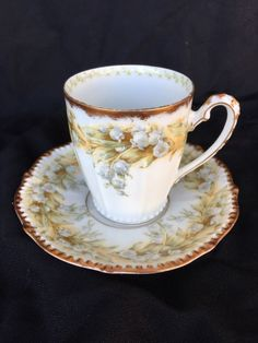 Antique Elite Works Limoges France Tea cup & Saucer HP Floral 22K Higgins Seiter | Pottery & Glass, Pottery & China, China & Dinnerware | eBay!
