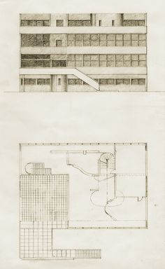 Plans and elevations of the villa stein garches 1927 for Famous building blueprints