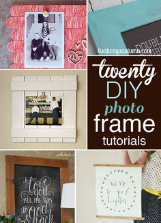 20 DIY FRAME TUTORIALS | these are the best photo frame tutorials on the web! make your own frames in a variety of sizes, colors, and materials. #diy #photo #frame
