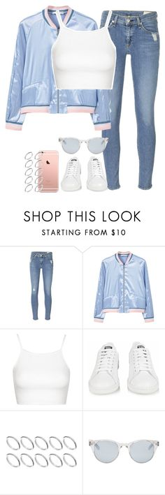 """Sem título #1070"" by isacris-28 ❤ liked on Polyvore featuring rag & bone, MANGO, Topshop, adidas, ASOS and Sun Buddies"