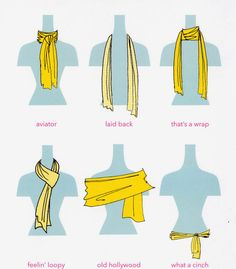 Here are some ways to style your scarf!