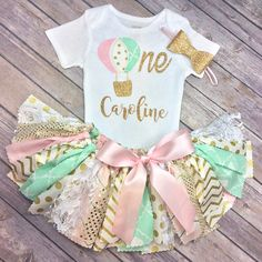 Hot Air balloon First Birthday Outfit!