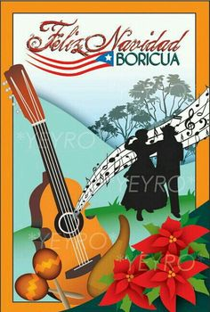 Anticipando la felicitación,  comparto éste pin....no es mío,  sólo lo comparto, porque amo a mi anhelado Puerto Rico.  Desde ya Feliz Navidad.