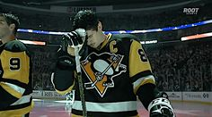 Sidney Crosby making the sign of the cross. Could he be any more perfect