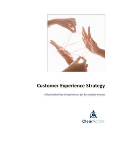 Customer Experience Strategy: 4 Overlooked Key Competencies for Sustainable Results (white paper) Customer Experience, White Paper, Priorities, Sustainability, Leadership, Career, Management, Key, Places