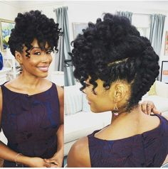 If you could minimize spending increased time in your hair would you? Well, black women are blessed with thick hair that can be crafty shaped into gorgeous hairstyles.When transitioning to natural hair. Protective hairstyles are helpful to lessen the stre Prom Hair Updo, My Hairstyle, Wedding Hairstyles For Long Hair, Afro Hairstyles, Black Women Hairstyles, Gorgeous Hairstyles, Hairstyles 2016, Elegant Hairstyles, Natural Updo Hairstyles