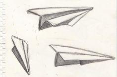 Paper Airplane Drawings