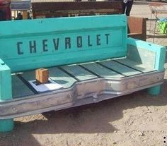 Cool bench out of tail gate and bumper