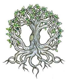 I have this exact tattoo except for the script and i absolutely love it! The tree of life tattoo is a symbol for The tree of life in the Garden of Eden and The axis mundi (center of the world): the connecting line between the underworld, the earth and the sky.