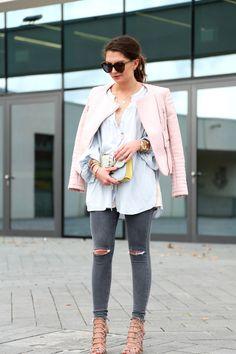 blouse:Edited// top: H&M (similar here/here) // leather jacket: Zara (similar here/here/here)// jeans:Topshop(similar here/here)// bag:Valentino(similar here/here/here) // sunglasses:Karen Walker// sandals:Schutz//watch:Triwa// necklace:Kate Spade//bracelets:Tory Burch,Amber Sceats blouse: Edited // top: H&M (similar here/here) // leather jacket: Zara (similar here/here/here)// jeans: Topshop(similar here/here)// bag: Valentino(similar here/here/here)…