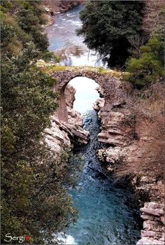 ponte medioevale di Felitto. Italy Cilento