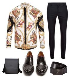 """Glam"" by douglasgarciaooler on Polyvore featuring Topman, Gucci, Versace, men's fashion and menswear"