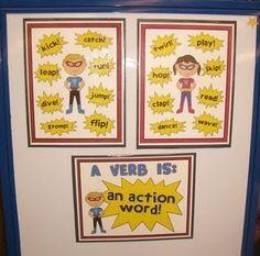 Action verbs! Cute idea to help teach them