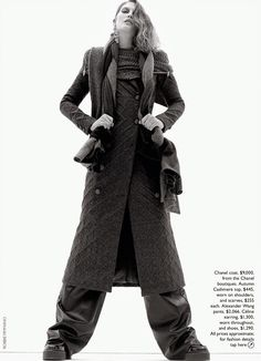 Catherine McNeil in CHANEL by Robbie Fimmano for Vogue Australia October 2014
