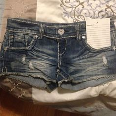 Shorts Don't fit .. Brand new . They are adorable Almost Famous Shorts Jean Shorts