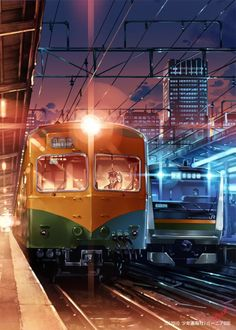 Kai Fine Art is an art website, shows painting and illustration works all over the world. Anime Scenery Wallpaper, City Wallpaper, We Heart It Art, Landscape Art, Landscape Paintings, Rail Wars, Studio Ghibli Background, Anime Places, Railroad Pictures