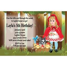 Little Red Riding Hood Personalized Invitation