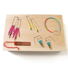 Boasting porcupine quills and beads,KYYOTEjewelry isinfluenced by the order of geometry, bursts of color and the use of positive and negative space. Also informed by the landscape of its LA surroundings, the resulting work is delicate yet bold—reflecting endless summers, clear blue skies and Technicolor sunsets.