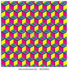 vector colorful cubes background pattern - stock vector