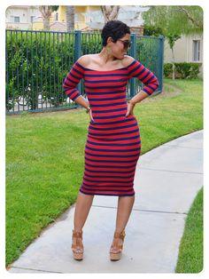 @Mimi B. B. G. Style: #DIY Striped Dress Using S1613 Modified + Fabric & Pattern Giveaway! @Angie Wimberly Monson Creative