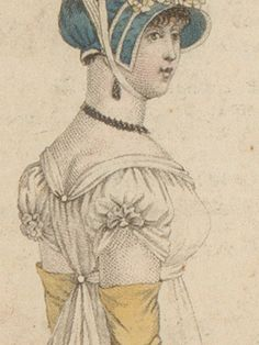 When thinking of the fashions between 1788 and the obvious characteristics seem to be a high waist-line, as slim skirt and puff-sleeves. There's a lot more variation in sleeve styles th… Regency Dress, Regency Era, Jane Austen, Georgian Era, Gowns With Sleeves, Fashion Plates, Sleeve Styles, Empire Clothing, Ball Gowns