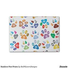 Rainbow Paw Prints Post-it® Notes