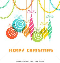 whimsical outline art | Modern Christmas Tree Clip Art | Cards ...