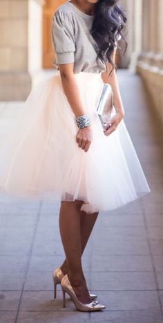 Tulle & Bow Pumps ♥